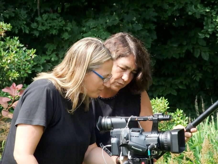 González y Laganière, en un momento de la filmación.