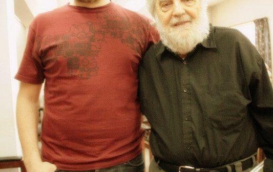 Tomás Watkins con Osvaldo Bayer
