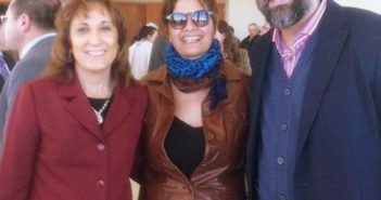 Adriana Maggio (centro) en San Luis