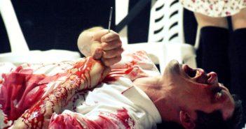 """""""Splatter, rojo sangre""""."""