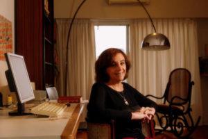 Ana María Shua, oficina en casa
