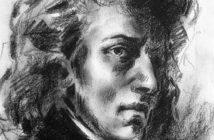 Portrait of Frederic Chopin by Eugene Delacroix