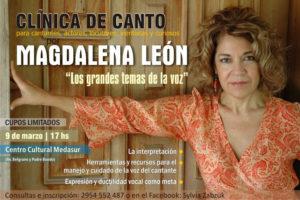 CLÍNICA DE CANTO MAGDALENA LEÓN