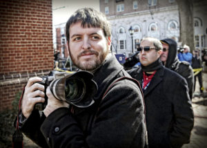 This undated photo provided by The Pulitzer Prizes shows Ryan Kelly, winner of the Pulitzer Prize for Breaking News Photography announced Monday, April 16, 2018, at Columbia University in New York. (The Pulitzer Prizes via AP)