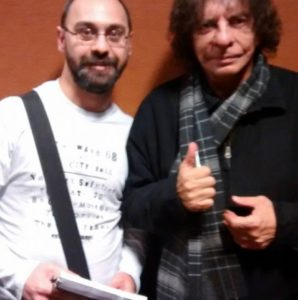 Emiliano Manuel Martinez Lasca junto a Alejandro Dolina