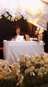 Marga Toranzo durante la presentación de su libro (foto Facebook)