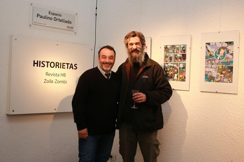 """""""El Santi"""" Rodríguez junto a Pablo Rubio."""