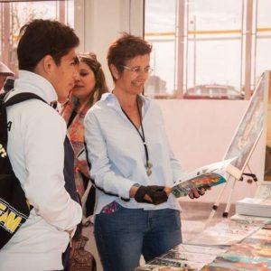 Adriana Maggio durante la 2° Feria Provincial del Libro