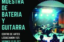 Muestra de batería y guitarra