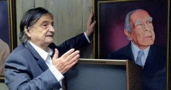 Jean-Pierre Léaud y un cuadro de Borges