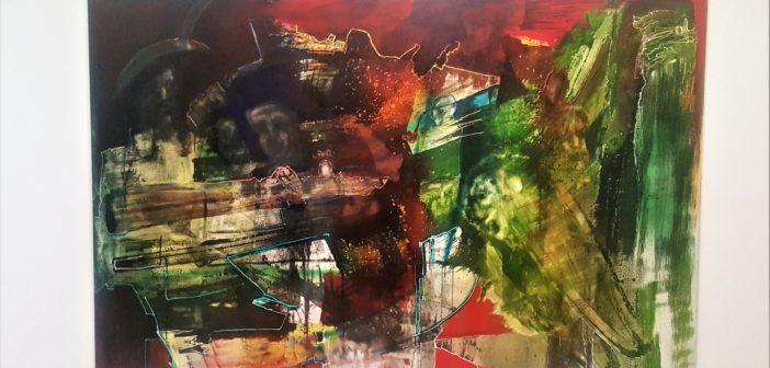 """""""Entre escombros"""" (2003). Mixta sobre tela."""