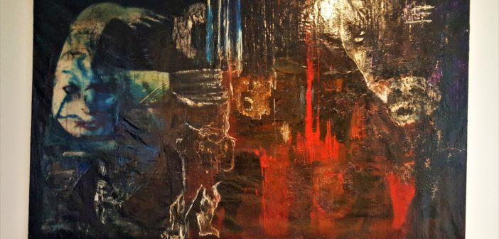 """""""Invitación al infierno"""" (1961). Óleo y esmalte sobre tela."""