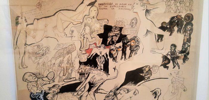 """Reflexiones sobre el amor"" (1972). Tinta sobre papel."
