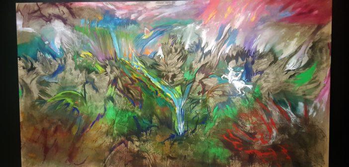 """""""Naturaleza de la naturaleza"""" (1985). Acrílico sobre tela."""