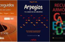 Las portadas de los tres libros editados por Sola.